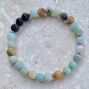 🕉 Truth and Hope Amazonite Crystal Bracelet